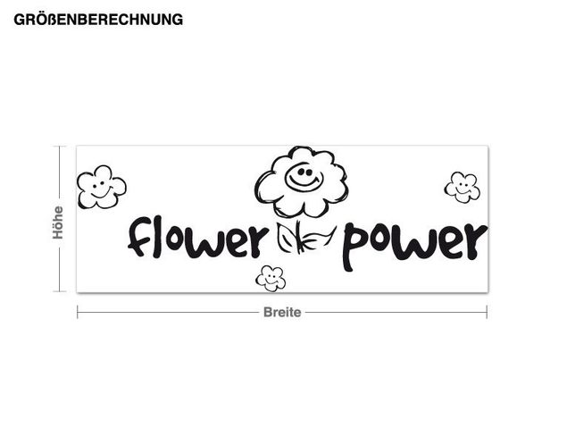 Adesivo murale - Flower Power