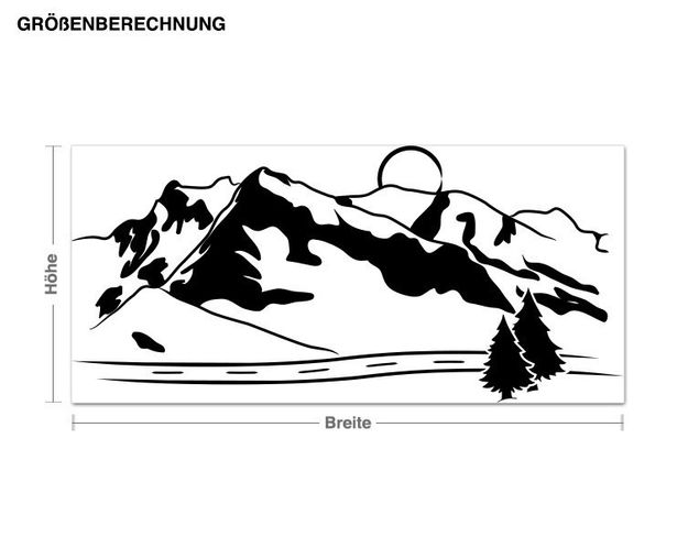 Adesivo murale - montagne