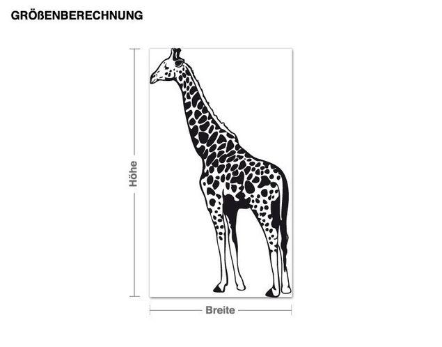 Adesivo murale - giraffa