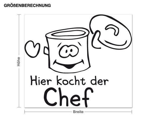 Adesivo murale - Qui lo chef cucina