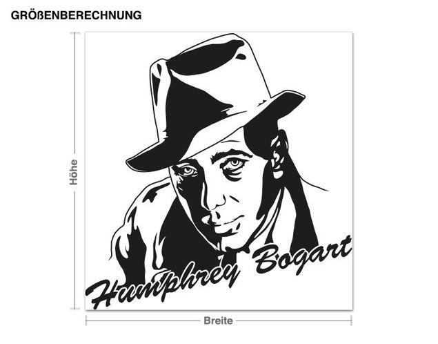 Adesivo murale - Humphrey Bogart