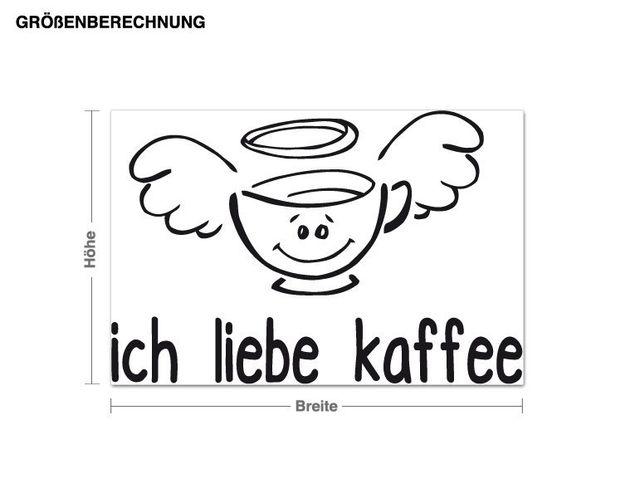Adesivo murale - Amo il caffè