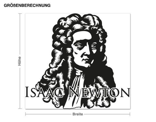 Adesivo murale - Isac Newton
