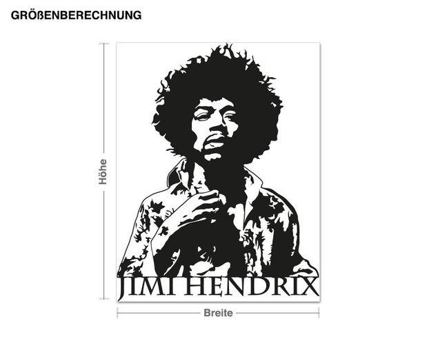 Adesivo murale - Jimi Hendrix