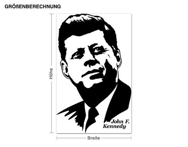 Adesivo murale - John F. Kennedy