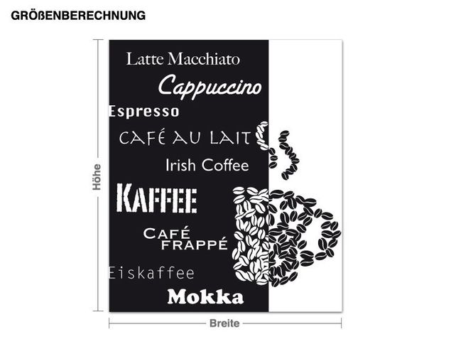 Adesivo murale - Coffee Art