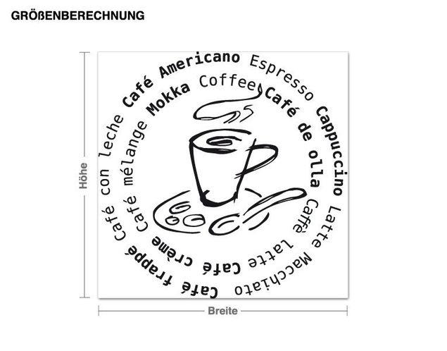Adesivo murale - caffè intorno