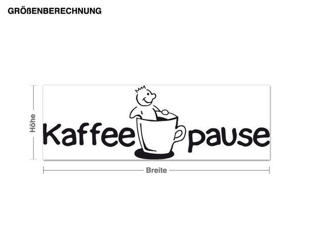 Adesivo murale - coffee break