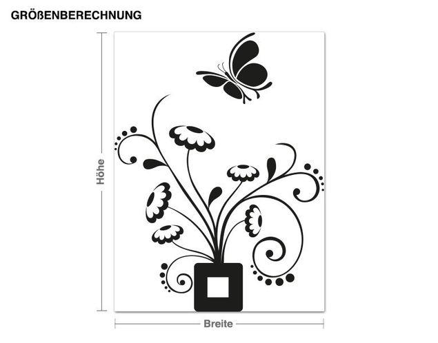 Adesivo murale - fiore scarabocchio