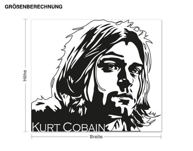 Adesivo murale - Kurt Cobain ritratto