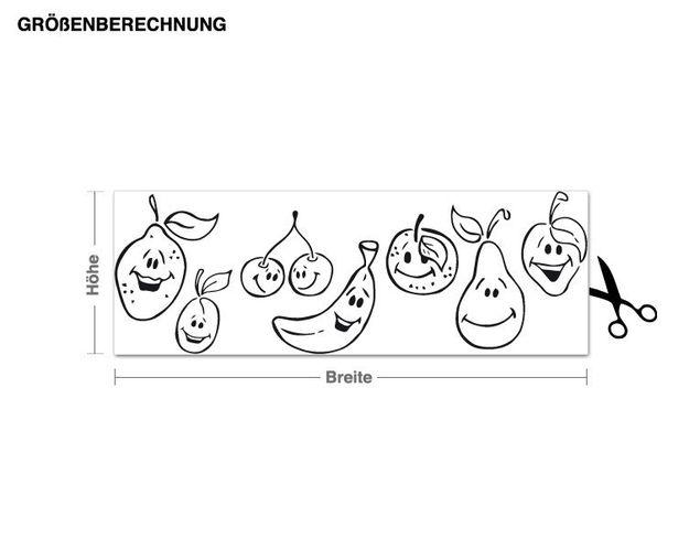 Adesivo murale - frutta ridere