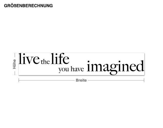 Adesivo murale - Vivi la vita