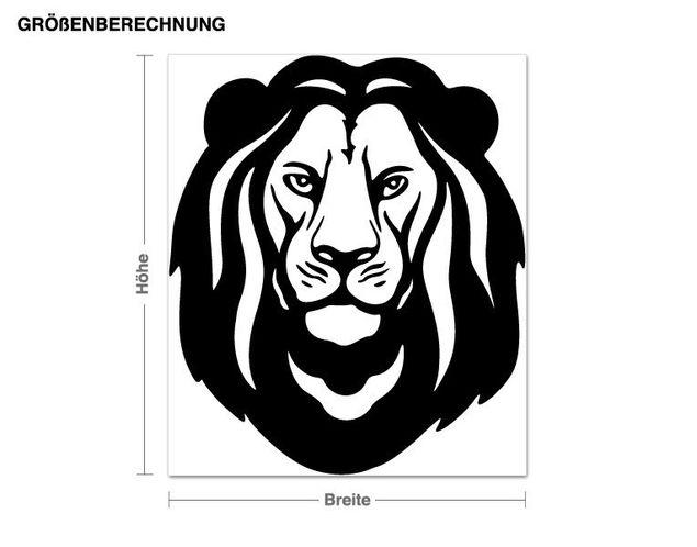 Adesivo murale - testa di leone