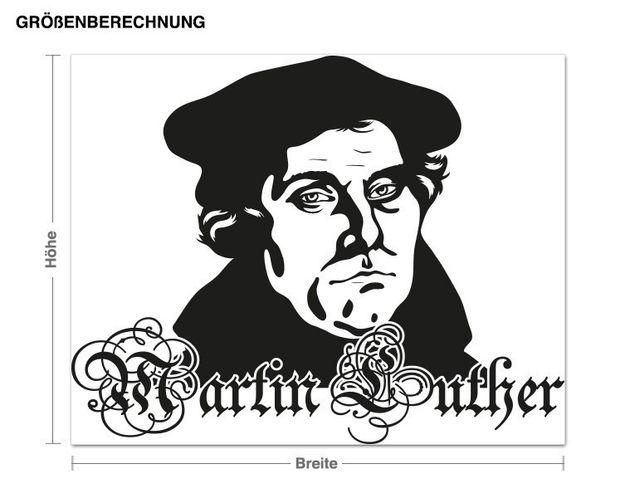 Adesivo murale - Martin Lutero
