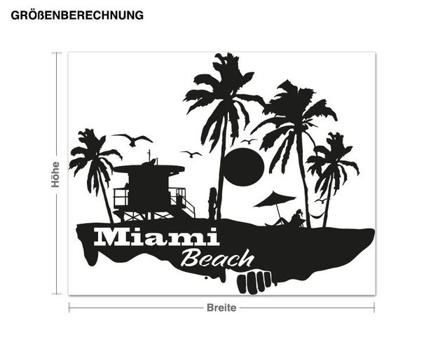 Adesivo murale - Miami Beach