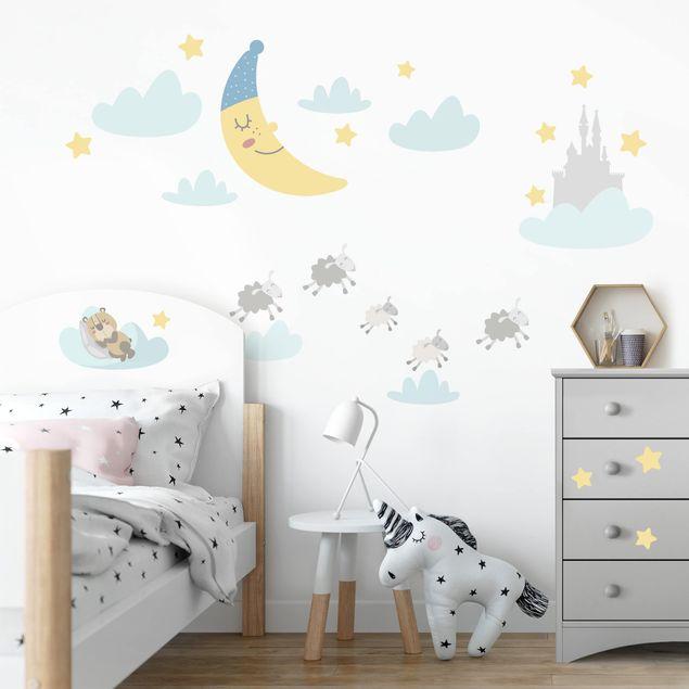 Adesivo murale bambini - Lune e stelline - Stickers camerette
