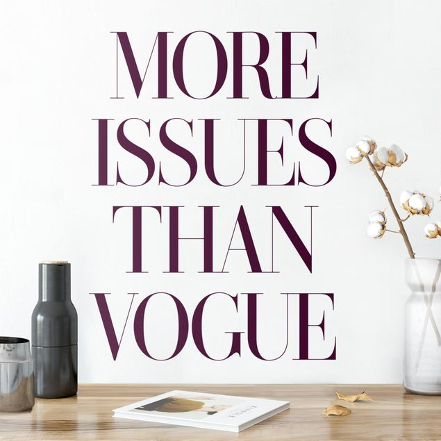 Adesivo murale - More Issues Than Vogue