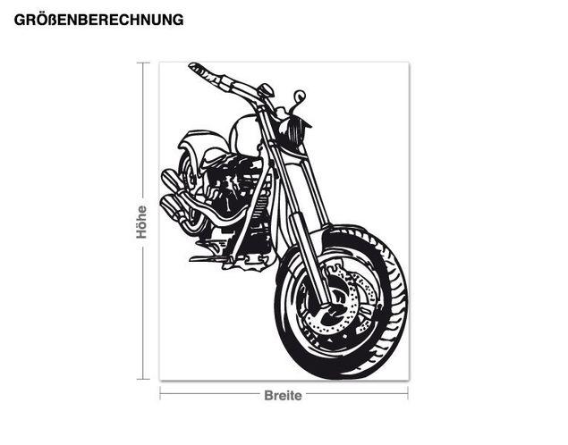 Adesivo murale - motocicletta