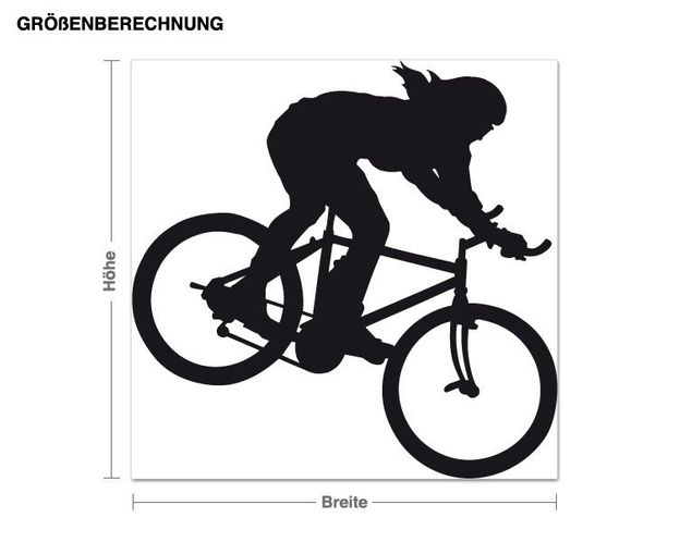 Adesivo murale - mountain bike