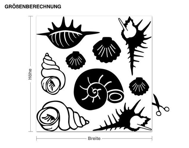 Adesivo murale - Shell Set
