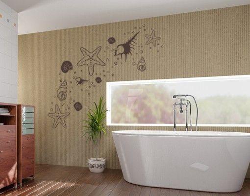 Adesivo murale - conchiglie