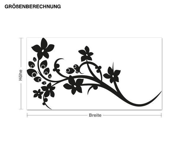 Adesivo murale - fiore di pavone