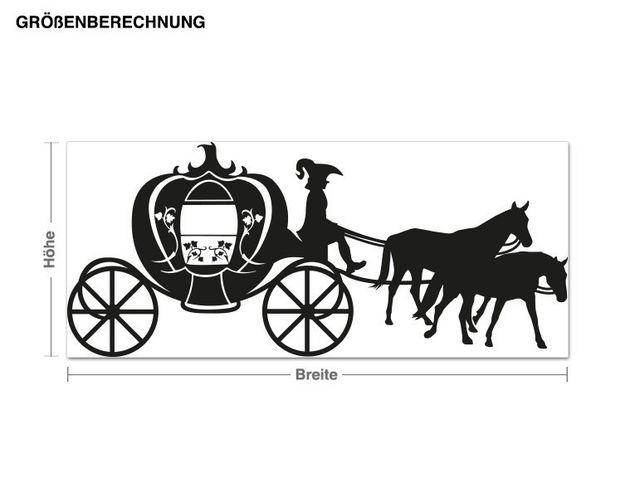 Adesivo murale - carrozza trainata da cavalli