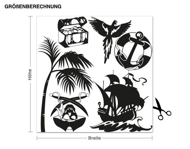 Adesivo murale - pirati Set
