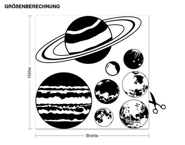 Adesivo murale - pianeta Set