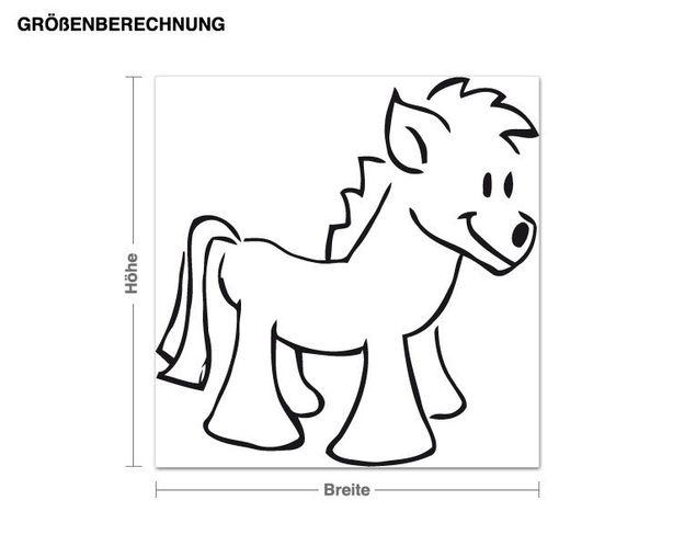 Adesivo murale - pony
