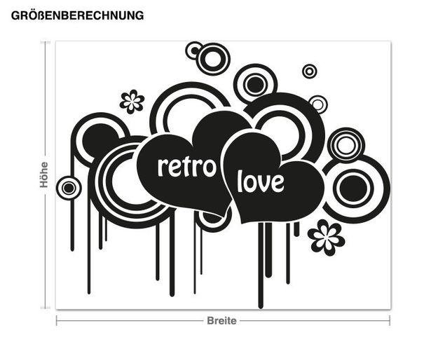 Adesivo murale - Retro Amore