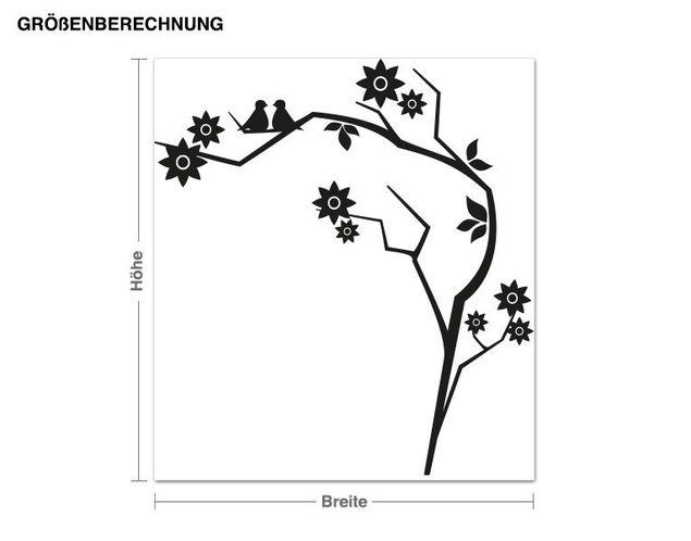 Adesivo murale - ramo Retro
