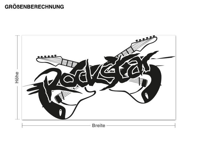Adesivo murale - Rockstar