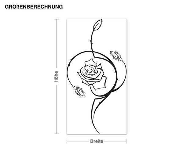 Adesivo murale - Rose pungiglione