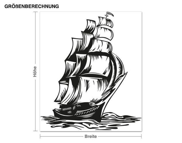 Adesivo murale - allontanarsi in barca
