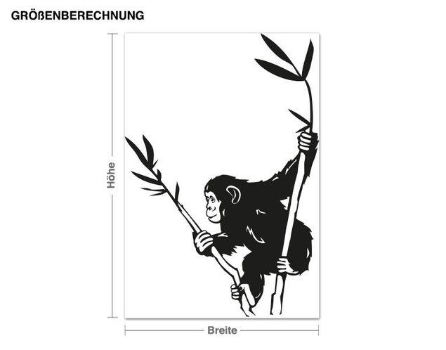 Adesivo murale - scimpanzé