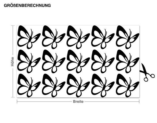 Adesivo murale - farfalla Set