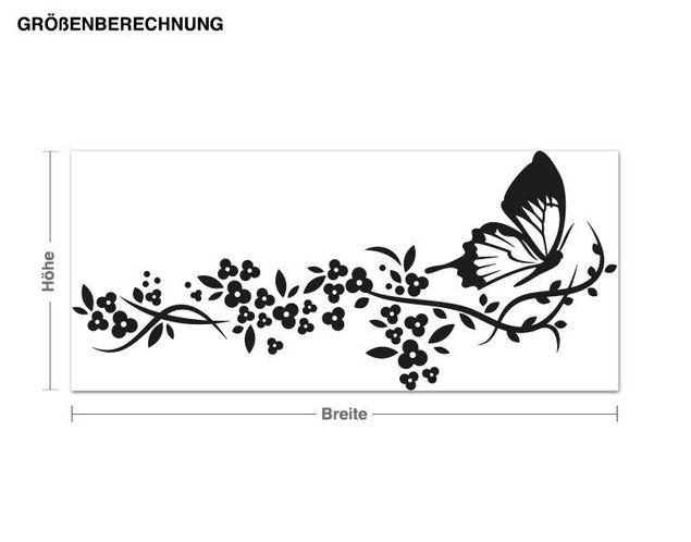 Adesivo murale - Volo di una farfalla