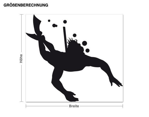 Adesivo murale - Snorkeling