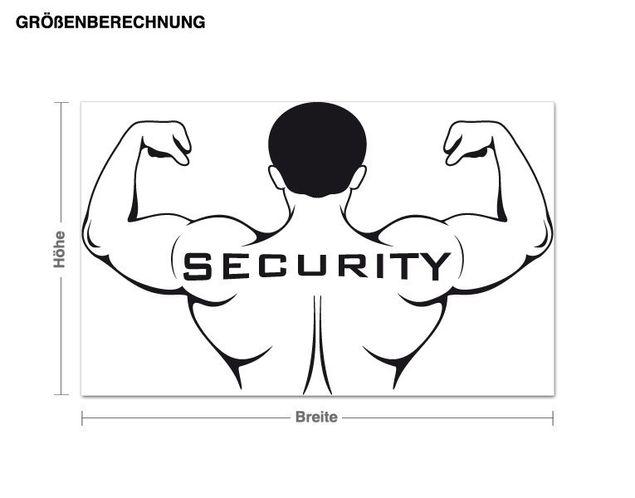 Adesivo murale - sicurezza