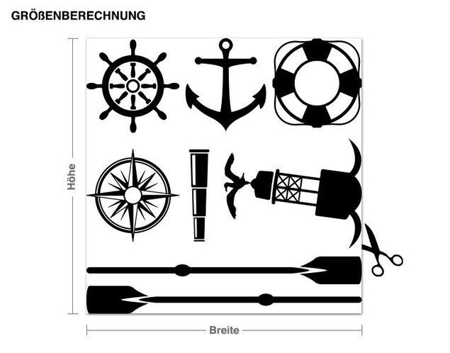 Adesivo murale - marineria Set