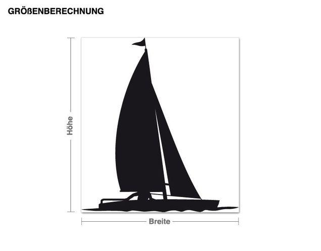 Adesivo murale - barca a vela