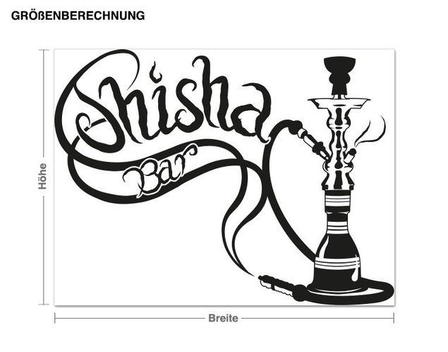 Adesivo murale - shisha bar