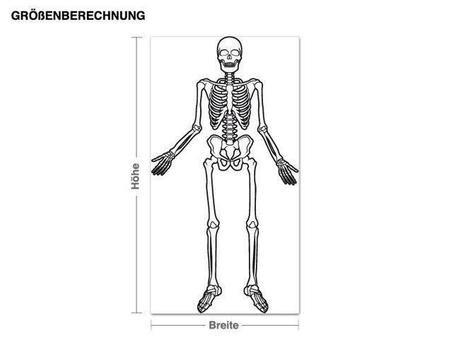 Adesivo murale - scheletro