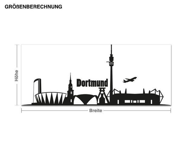 Adesivo murale - skyline di Dortmund