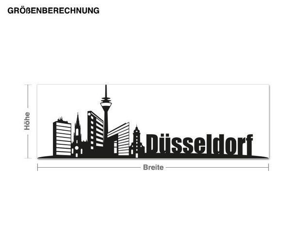 Adesivo murale - skyline di Düsseldorf