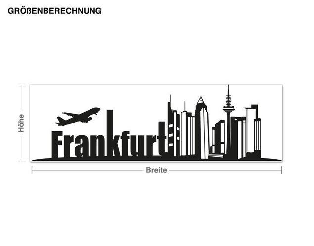 Adesivo murale - città di Francoforte