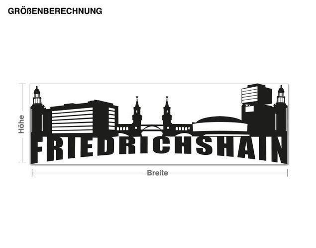 Adesivo murale - Skyline Friedrichshain