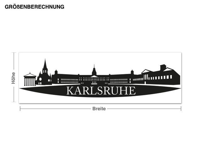 Adesivo murale - Skyline Karlsruhe