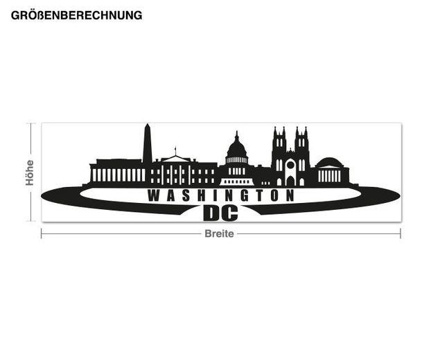 Adesivo murale - Skyline Washington DC